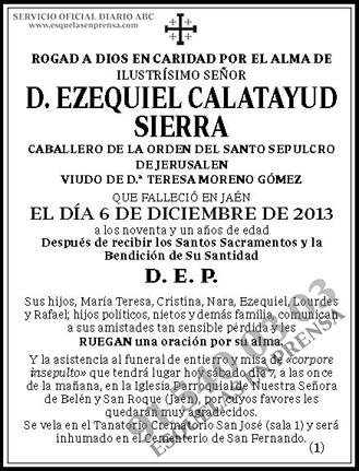 Ezequiel Calatayud Sierra
